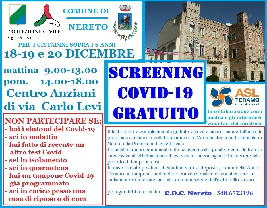 SCREENING RAPIDI COVID-19