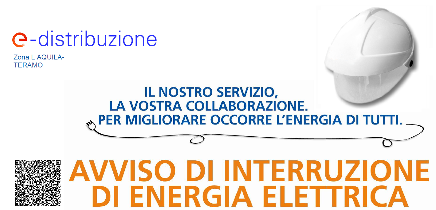 Interruzione erogazione Energia Elettrica venerdì 18 Giugno