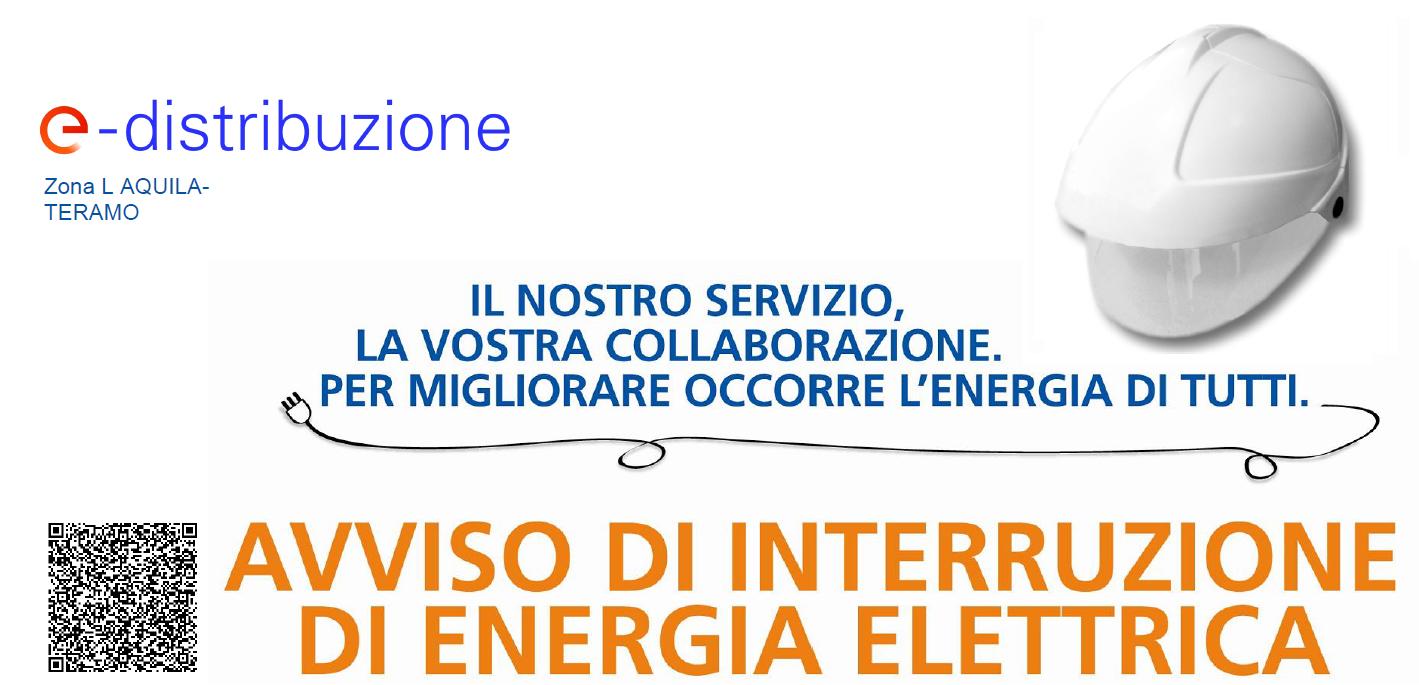 Avviso Interruzione Energia Elettrica mercoledì 21 Ottobre