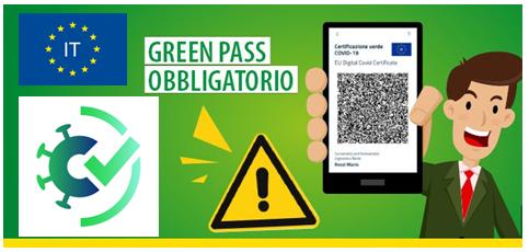 Controllo Green Pass attivazione dal 15.10.2021